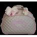 Bolsa Maternidade G Bege c/ Detalhes Rosa
