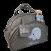 Bolsa Maternidade G Cinza c/ Detalhes Azul Bebê