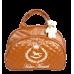 Bolsa Maternidade G Caramelo c/ bordado Bege