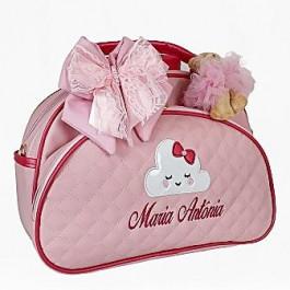 Bolsa Maternidade G Rosa c/ Detalhes Pink
