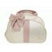 Bolsa Maternidade G Bege c/ Detalhes Rosa Antigo