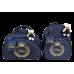 Kit Bolsa G + Mochila G Azul Marinho com Bordado Ouro