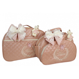 Kit Mala Maternidade + Bolsa G Rosé Gloss