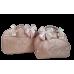 Kit Mala Maternidade + Bolsa G Rosé Metalizado de Listras