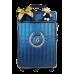 Mala de Rodinhas G 360 Graus Azul Marinho Metalizado de Listras